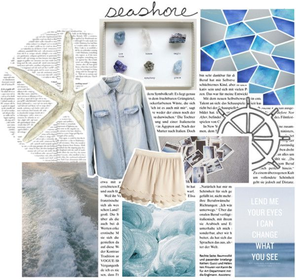 """""""Sea shells by the sea shore"""" by liz-the-unicorn ❤ liked on Polyvore"""