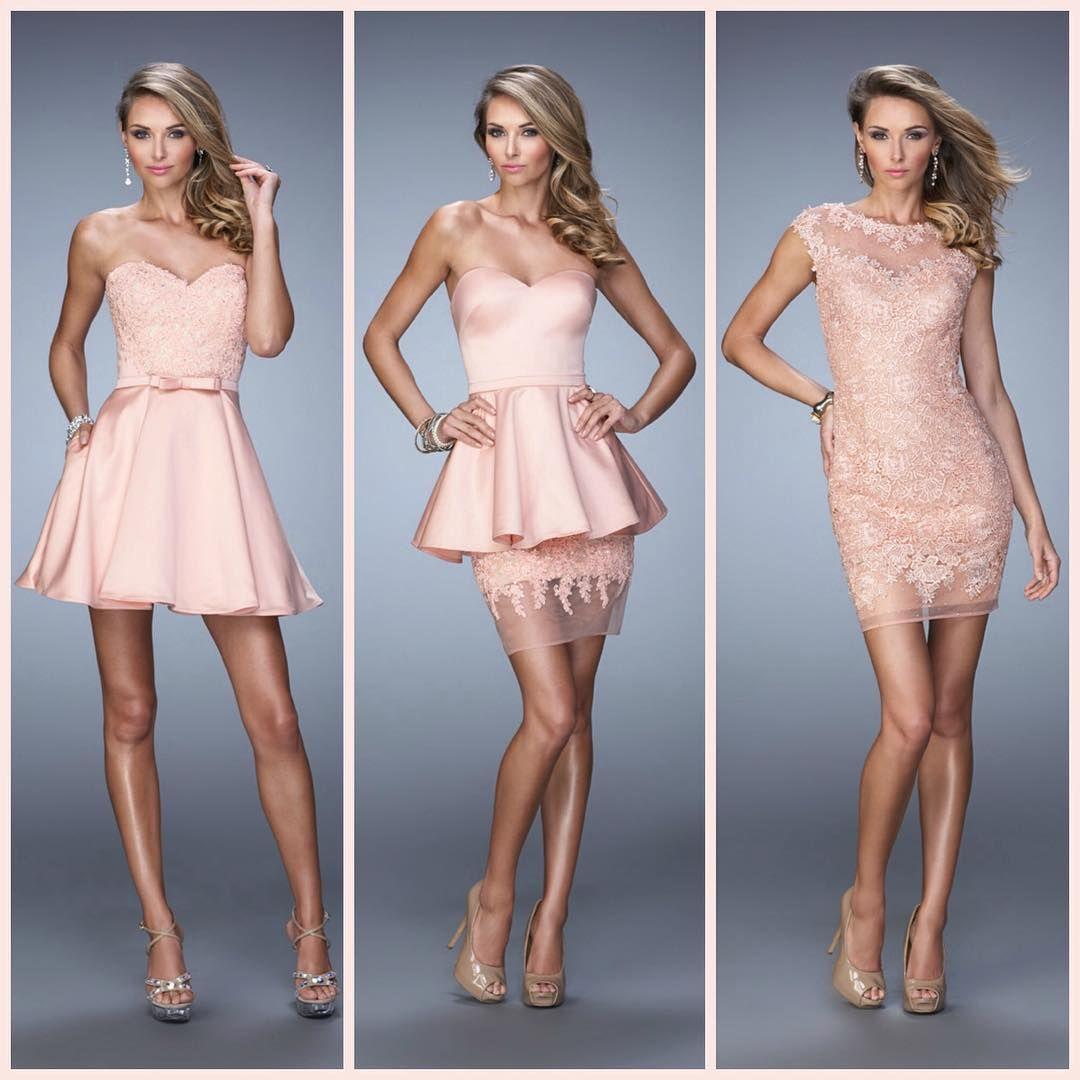 La Femme 21881, 21817 & 21872 ~ pink dress ~ short dress ~ cocktail dress