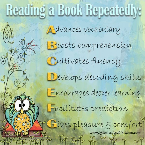 Explaining the benefits of reading to children and pupils