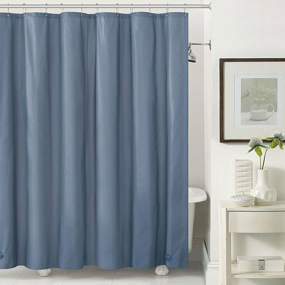 Mdesign Hotel Quality Polyester Cotton Blend Fabric Shower Curtain