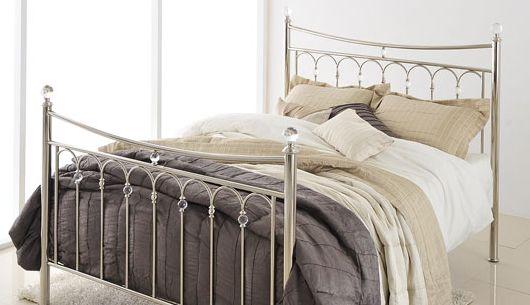 Carmen King Size Antique Silver Bed