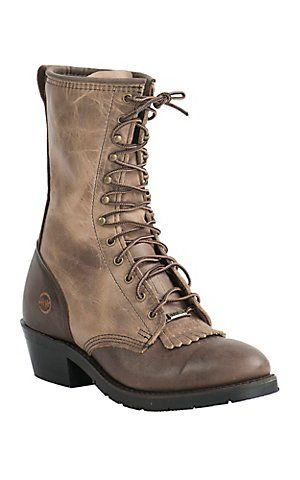 5b0ca542735 Double H AG7 Packer Men's Alamo Cafe U Toe Lace-Up Work Boot | boots ...