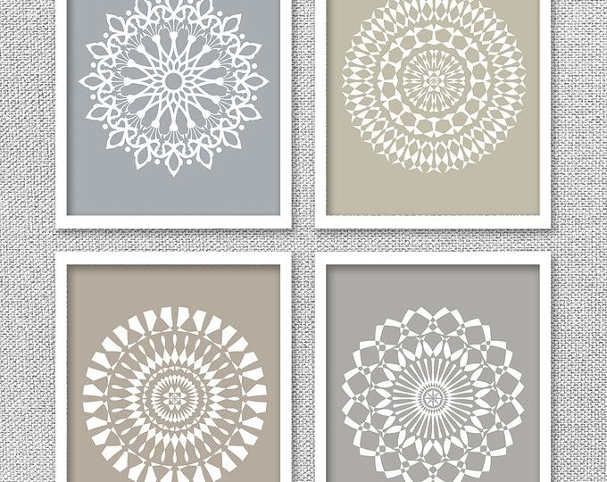 Neutral Wall Art, Printable Wall Art, Mandala Art, Office Wall Decor ...