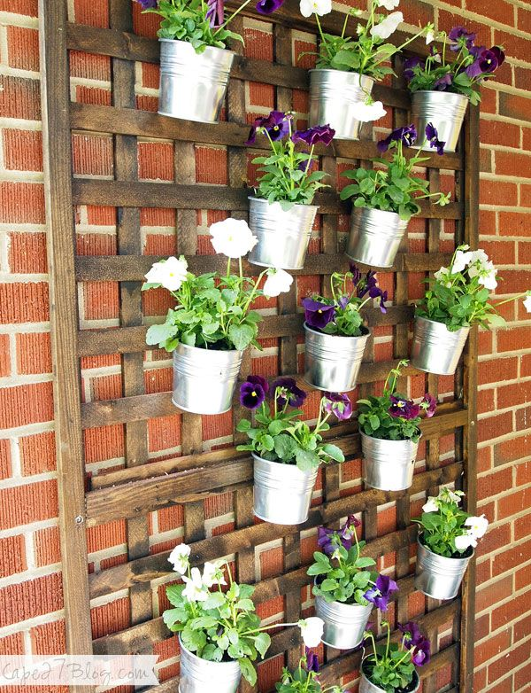 Diy Vertical Wall Planter Vertical Garden Diy Vertical Herb