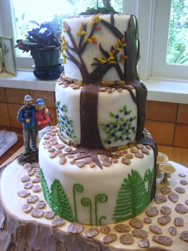 Hikers Wedding Cake. I mostly like this because the bride ...