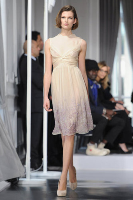 2012 Paris Couture Fashion Week:  Christian Dior   image c/o: FabSugar.com