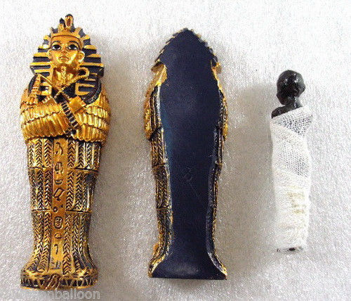 King TUT Tomb Coffin Mummy Figure Statue 3D