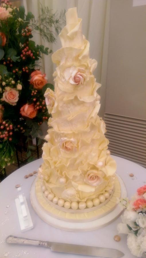 White Chocolate Wrap Cake By Shell At Spotty Cake Tin   Http://cakesdecor