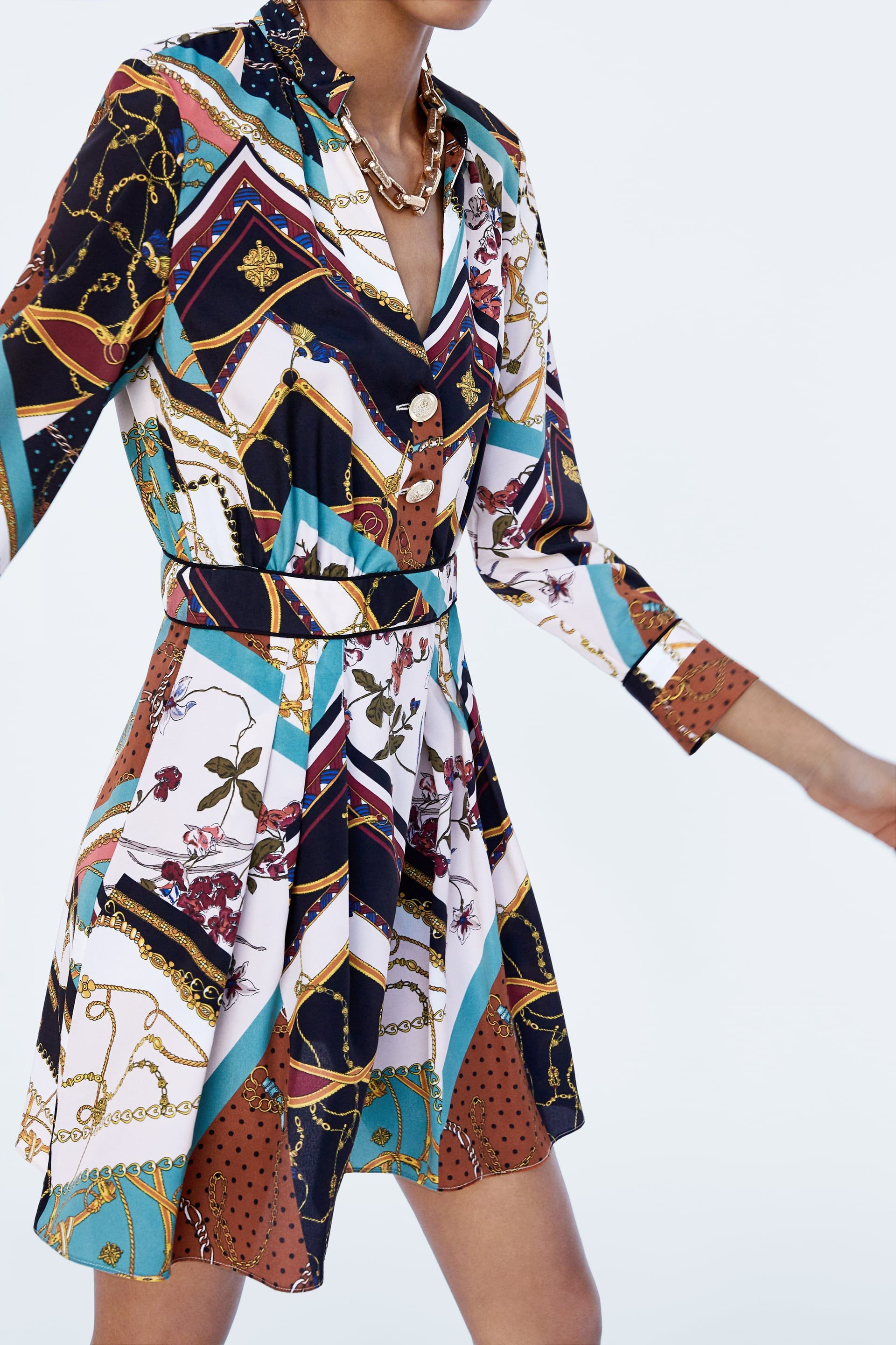 Image 6 of CHAIN PATCHWORK PRINT DRESS from Zara | デザイン