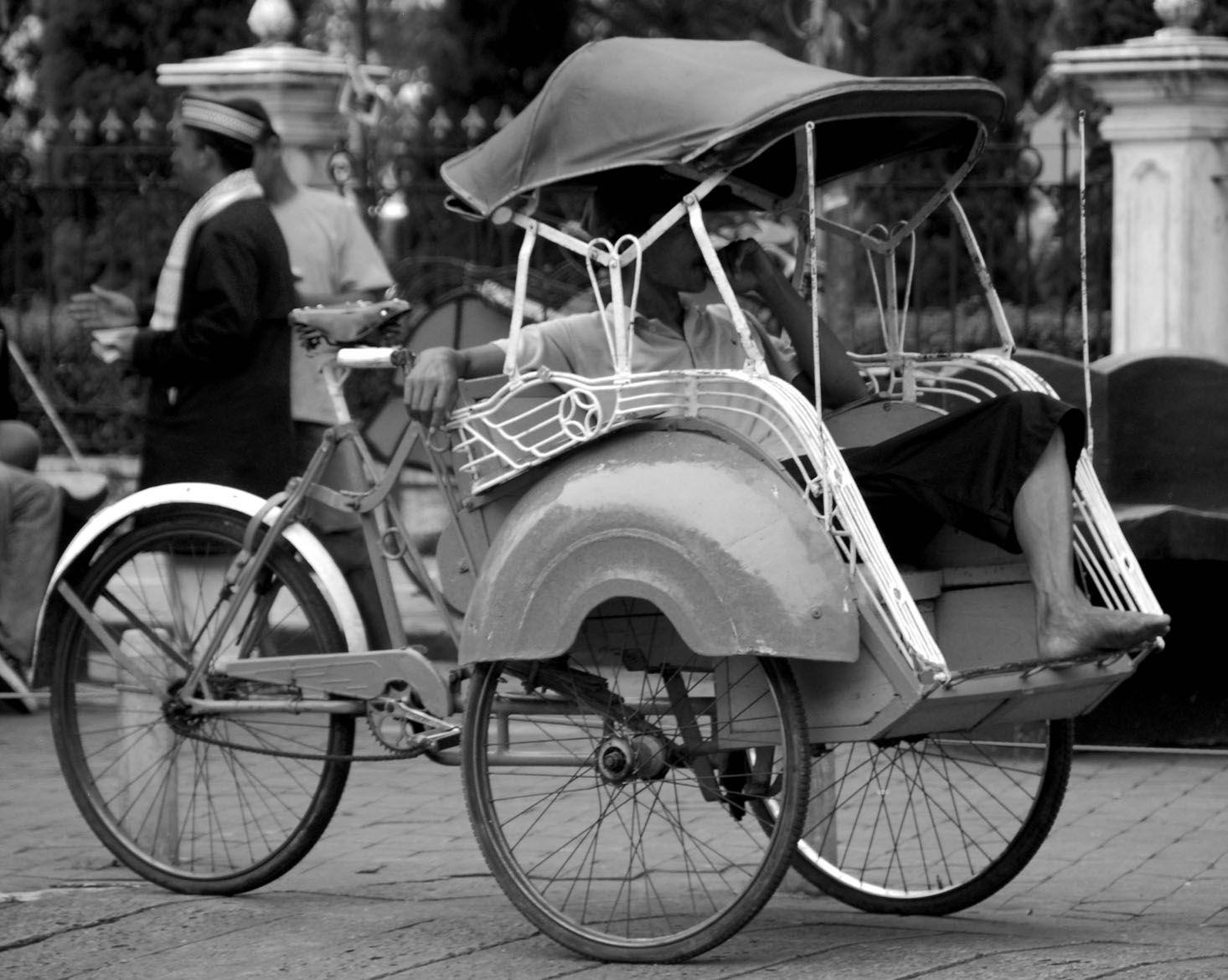 Becak, Traditional Transportation Indonesia, Java
