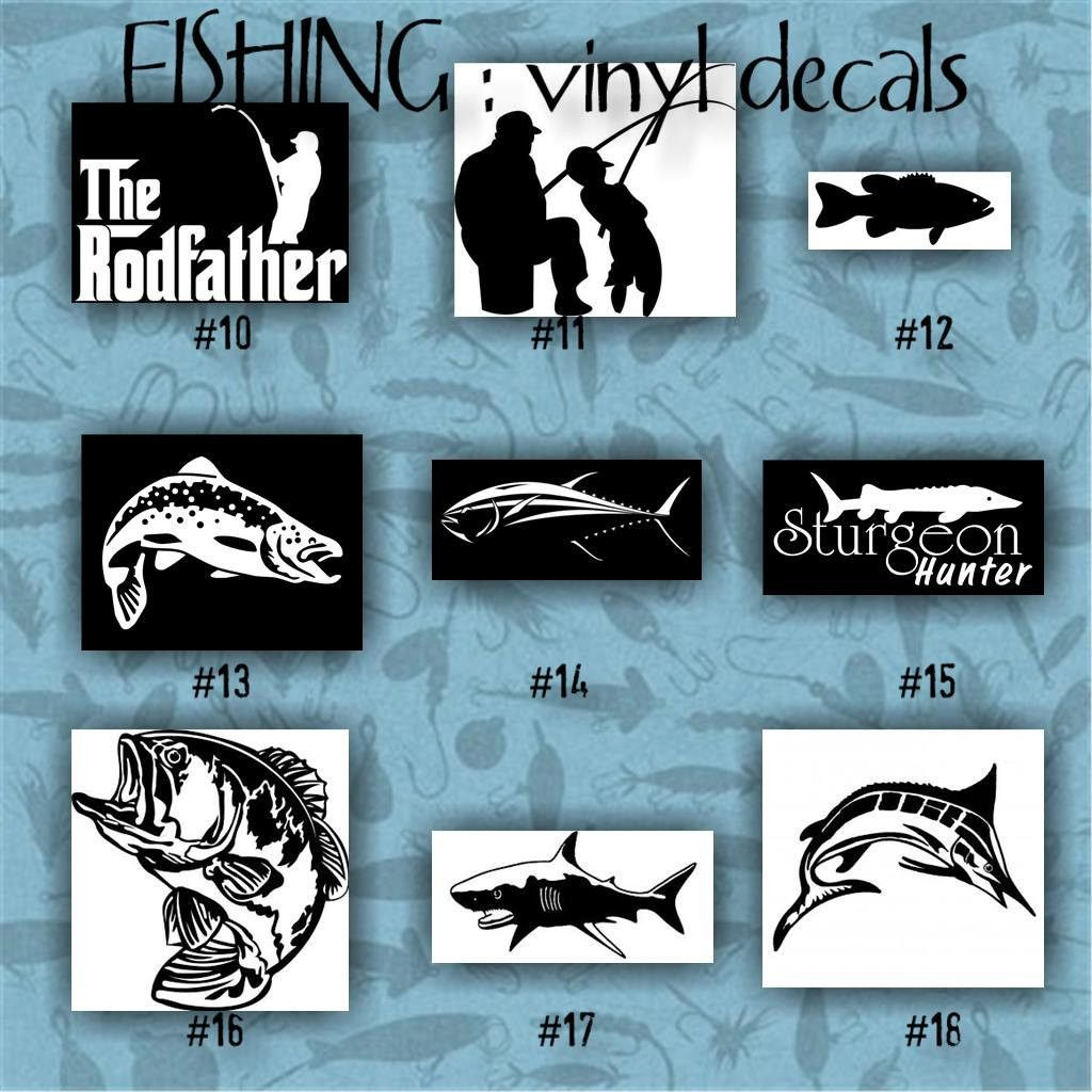 FISHING Vinyl Decals  Car Decal Vinyl Sticker Laptop - Custom vinyl decal stickers for boats