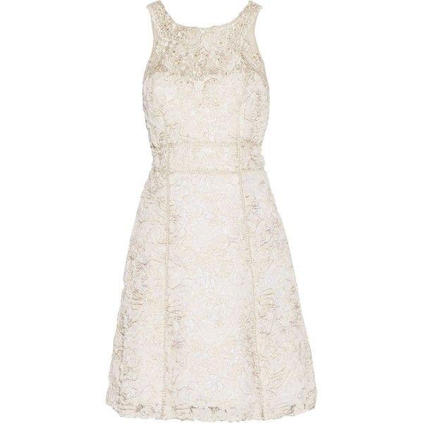 Embellished Tulle Mini Dress - White Marchesa r6jEe