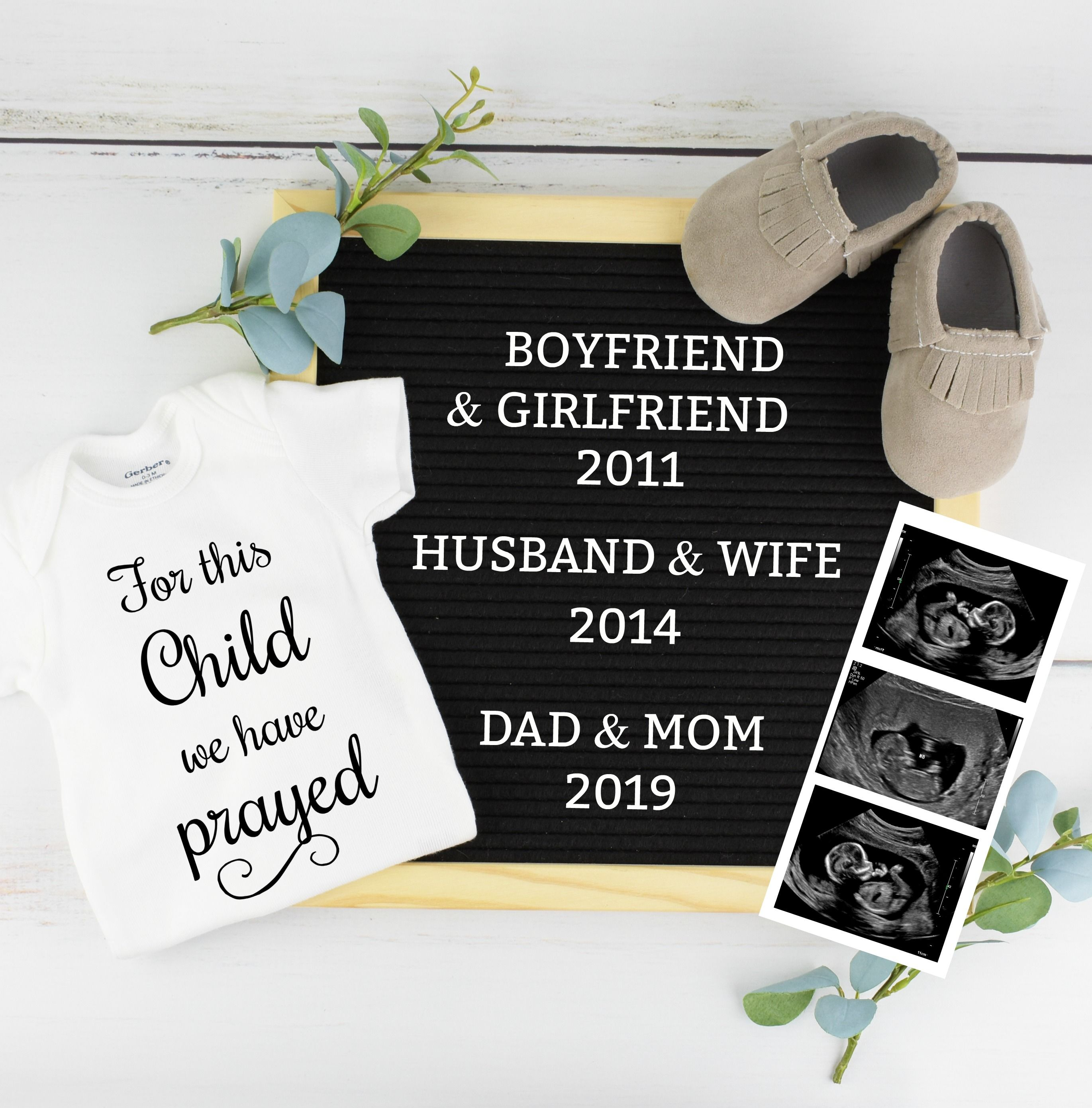 38+ Christmas baby announcement letter board ideas