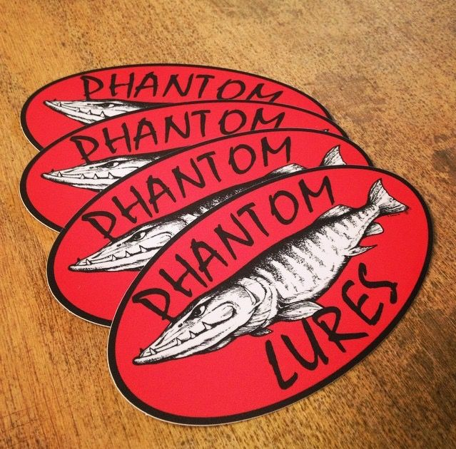 Custom oval stickers made for phantom lures orders yours today at http