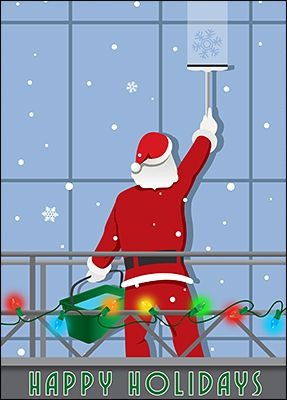 Santa window cleaning card glossy white 2092 products customize santa window cleaning cards online ziti cards reheart Choice Image