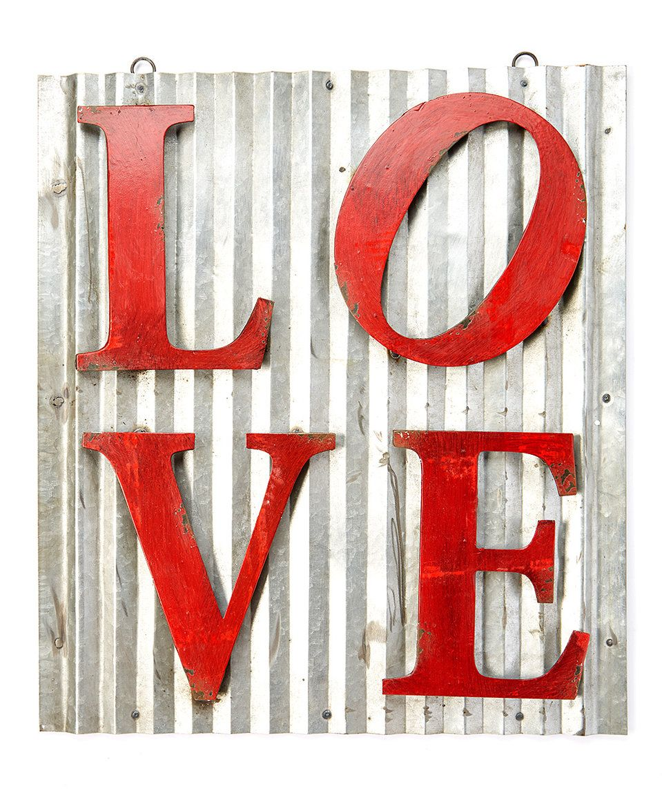 Another great find on #zulily! Red \'LOVE\' Sign by PD Home and Garden ...