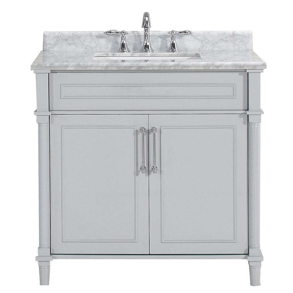 Home Decorators Collection Aberdeen 30 In X 22 In D Bath Vanity In Dove Grey With Carrara Marble Vanity Top In White With White Basin Aberdeen 30g The Home In 2021