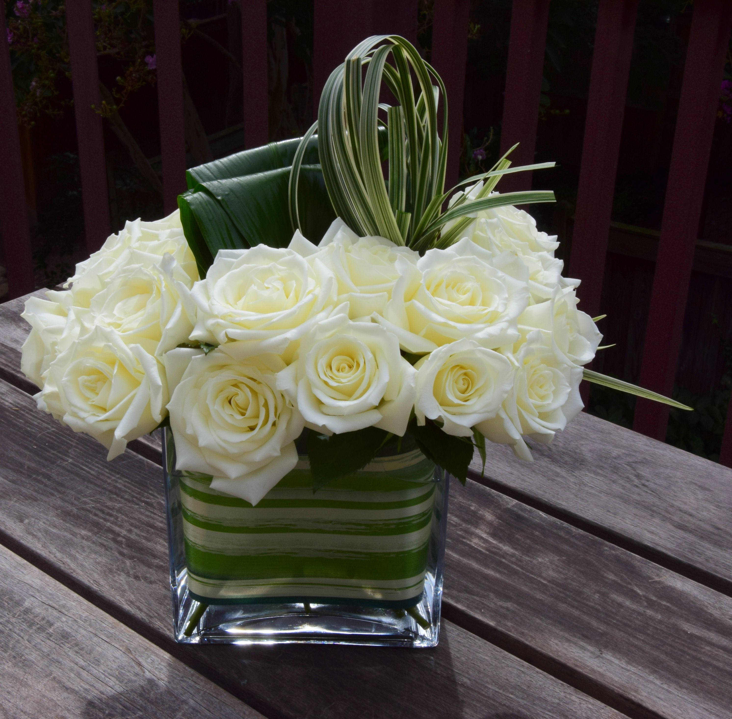 White roses and green fillers simple sympathy flowers fleurelity florist customized flower arrangements and flower delivery local florist izmirmasajfo
