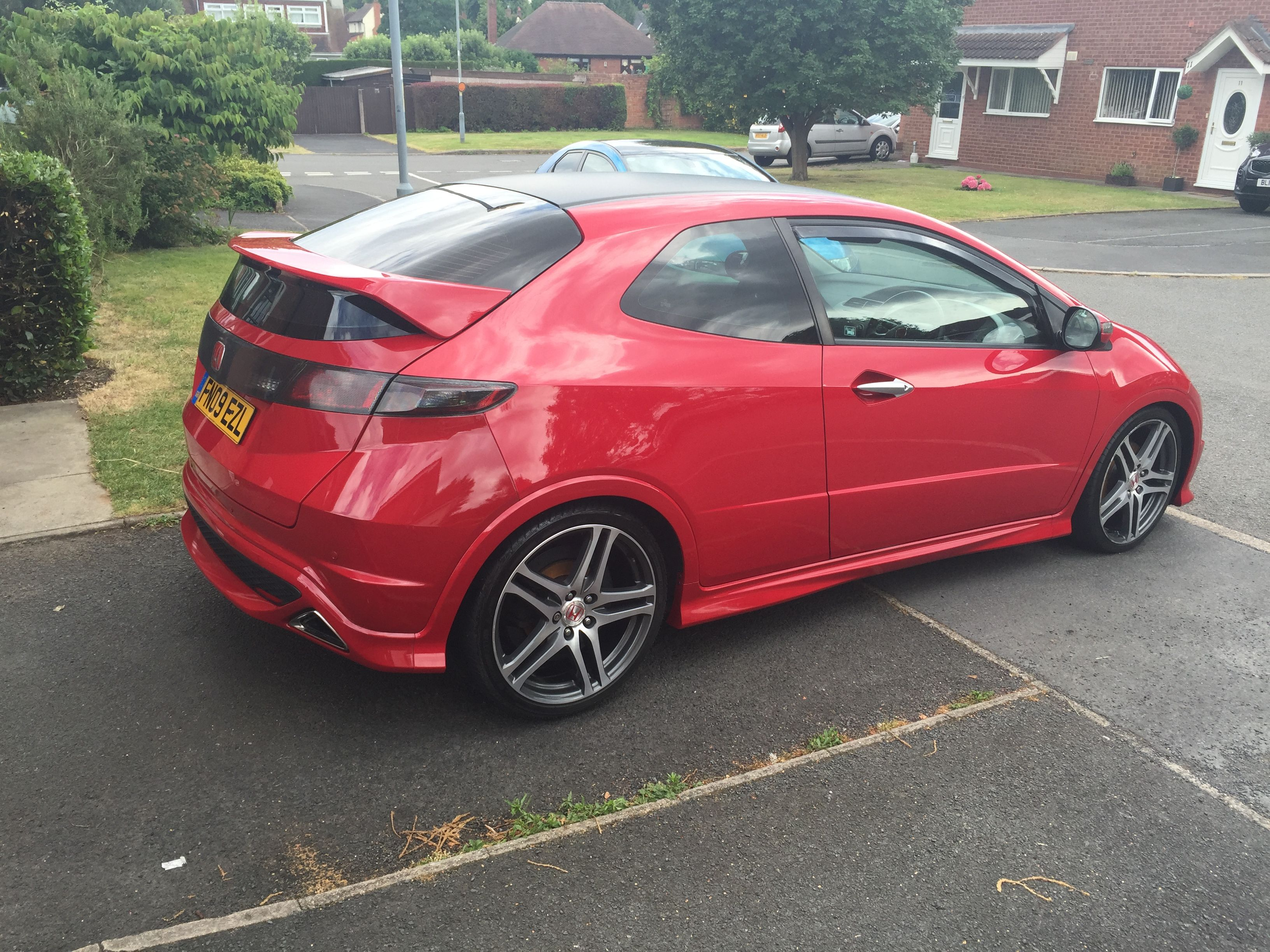 Red Window Tint >> Honda Civic Type R Milano Red With Suntek Carbon 5 Window
