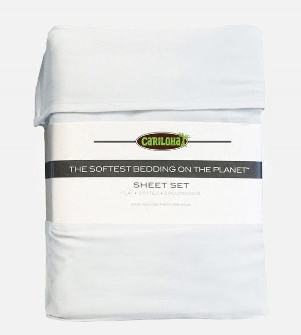 Classic Bamboo Bed Sheet Set White King Sheet Sets Sheet Sets