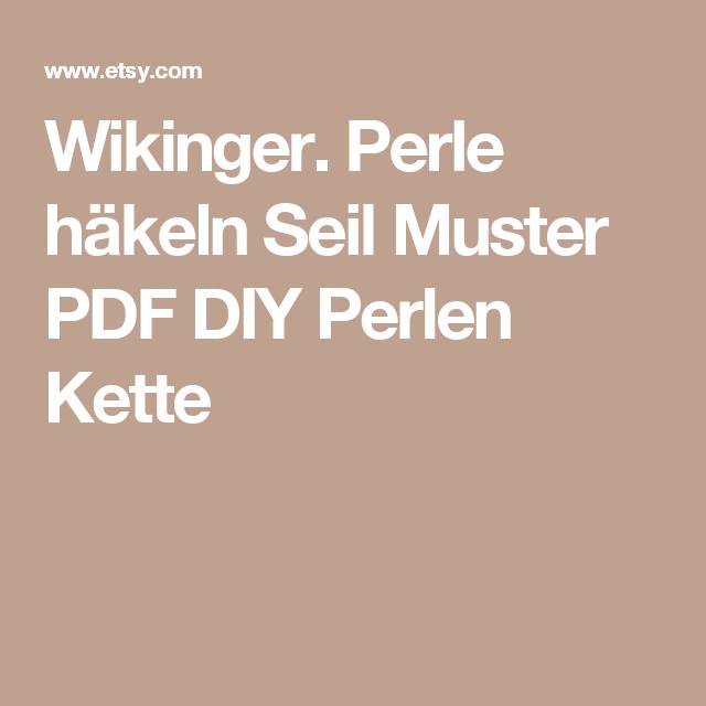 Wikinger. Perle häkeln Seil Muster PDF DIY Perlen Kette | Halskette ...