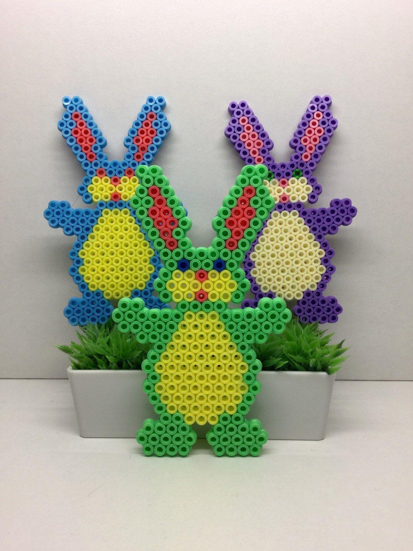 Easter Egg Easter Deco Hama Beads Pixel art Home Deco   perler beads ...