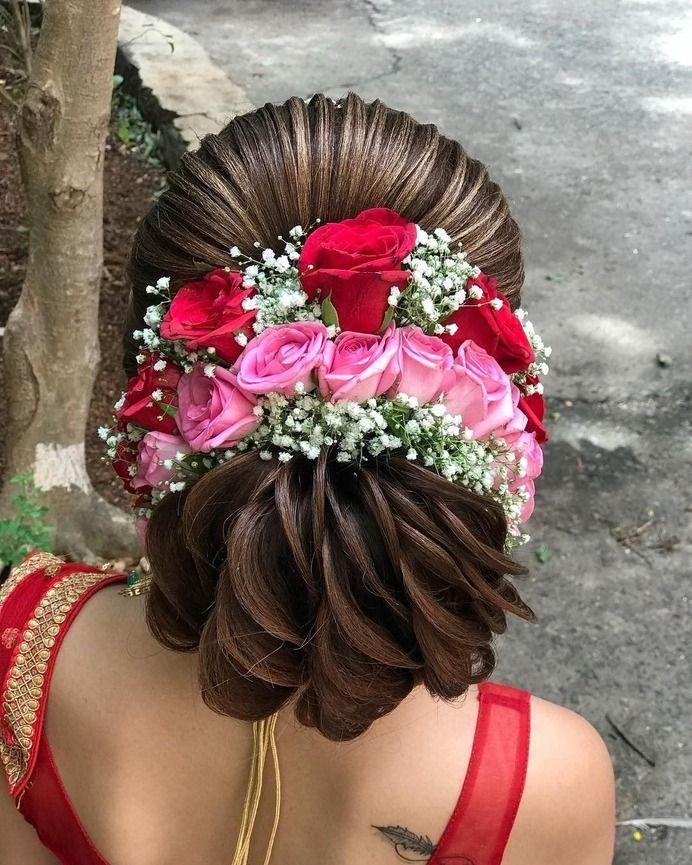 Stylish Hairstyle For Bridal #shaadidukaan #receptionhairstyle #hairstyleforreception #bridalha ...