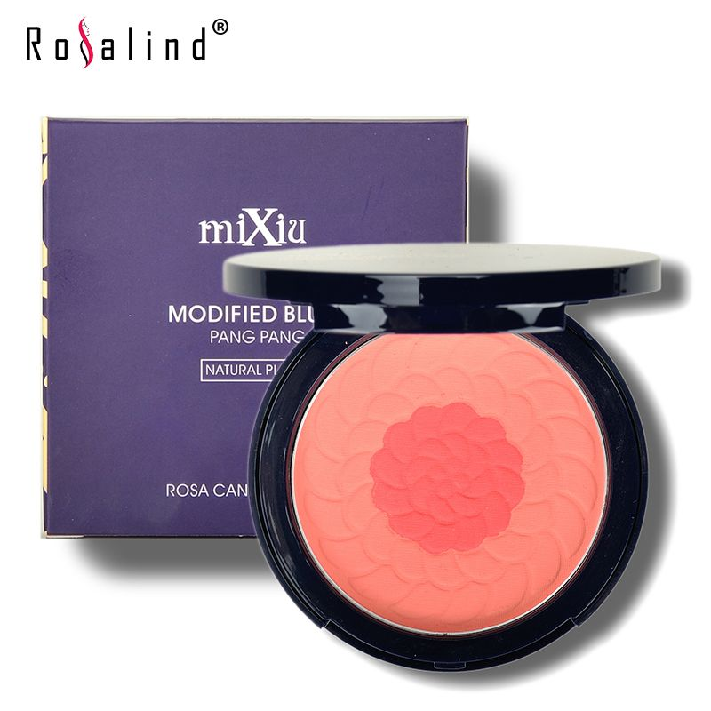 $8.49 (Buy here: http://appdeal.ru/6psh ) Rosalind Professional Face Makeup Modified Blush Rosa Canina Fruit Oil Natural Blusher Dual Shimmer Brand MiXiu for just $8.49