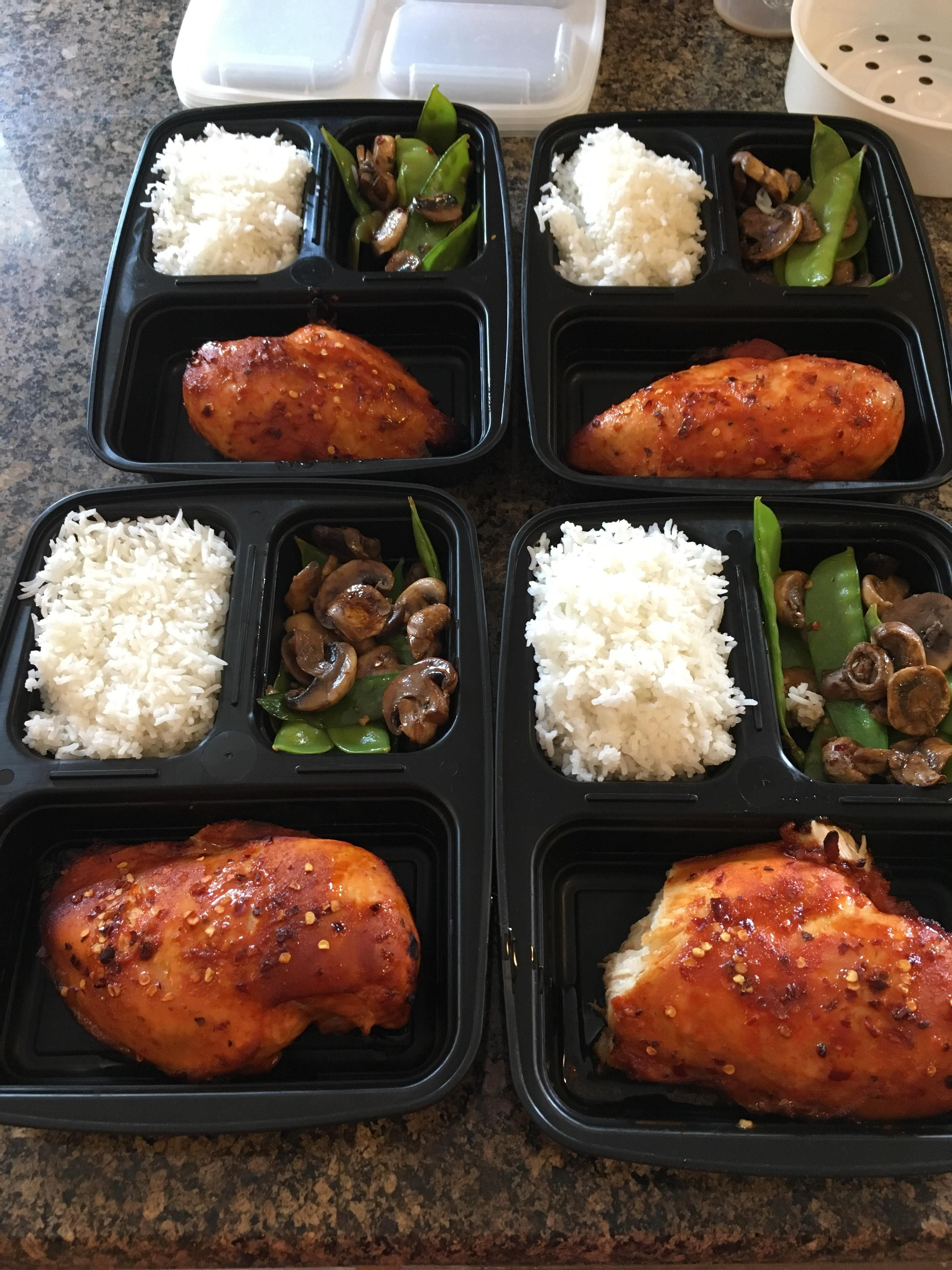 New To Reddit And Love This Sub For Great Meal Ideas Sweet Sriracha Chicken Meal Prep The Wife Made Mealp Meal Prep Sushi Recipes Easy Healthy Sushi Recipes