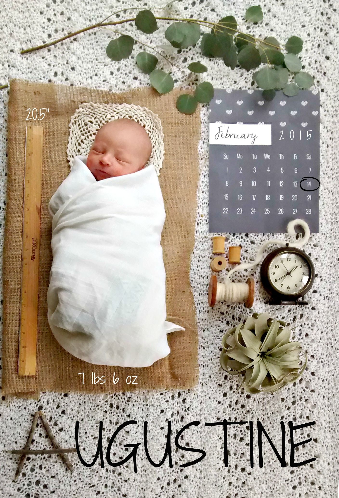 Heres our homemade birth announcement for little baby August He – Birth Announcement Pinterest