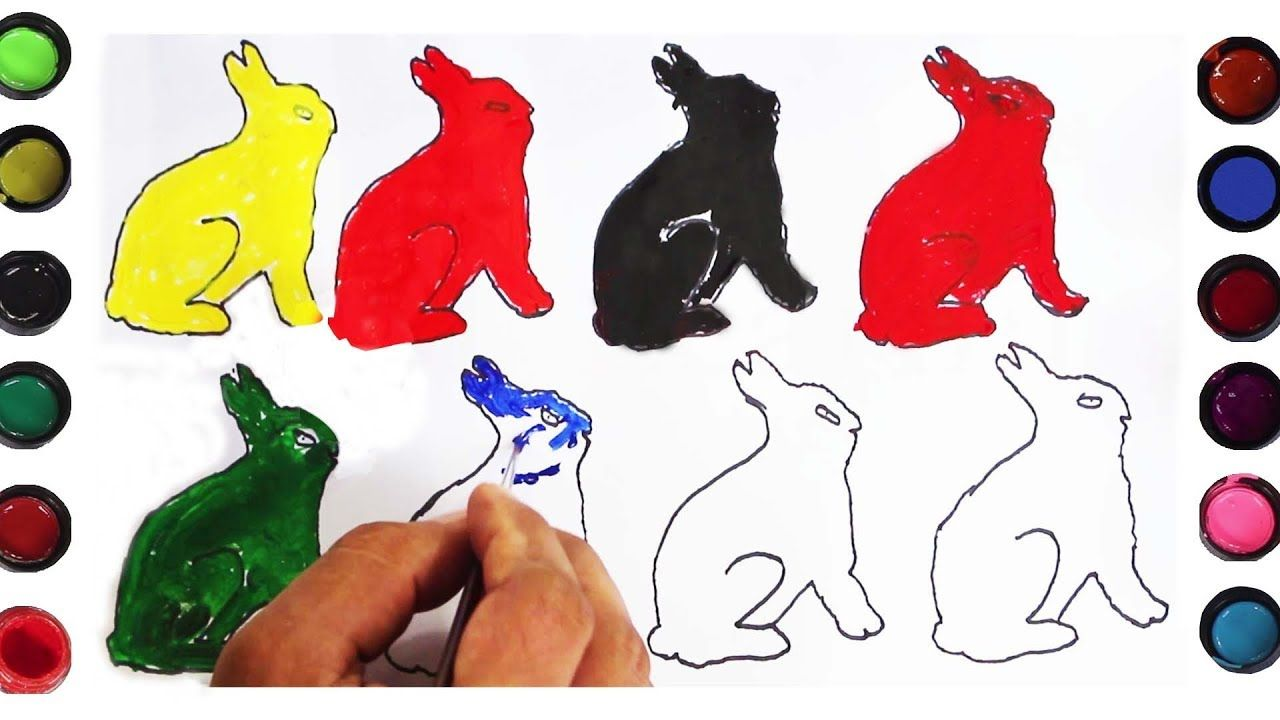 How to Draw Rabbit Coloring Pages for Baby & Toddler, Drawing ...