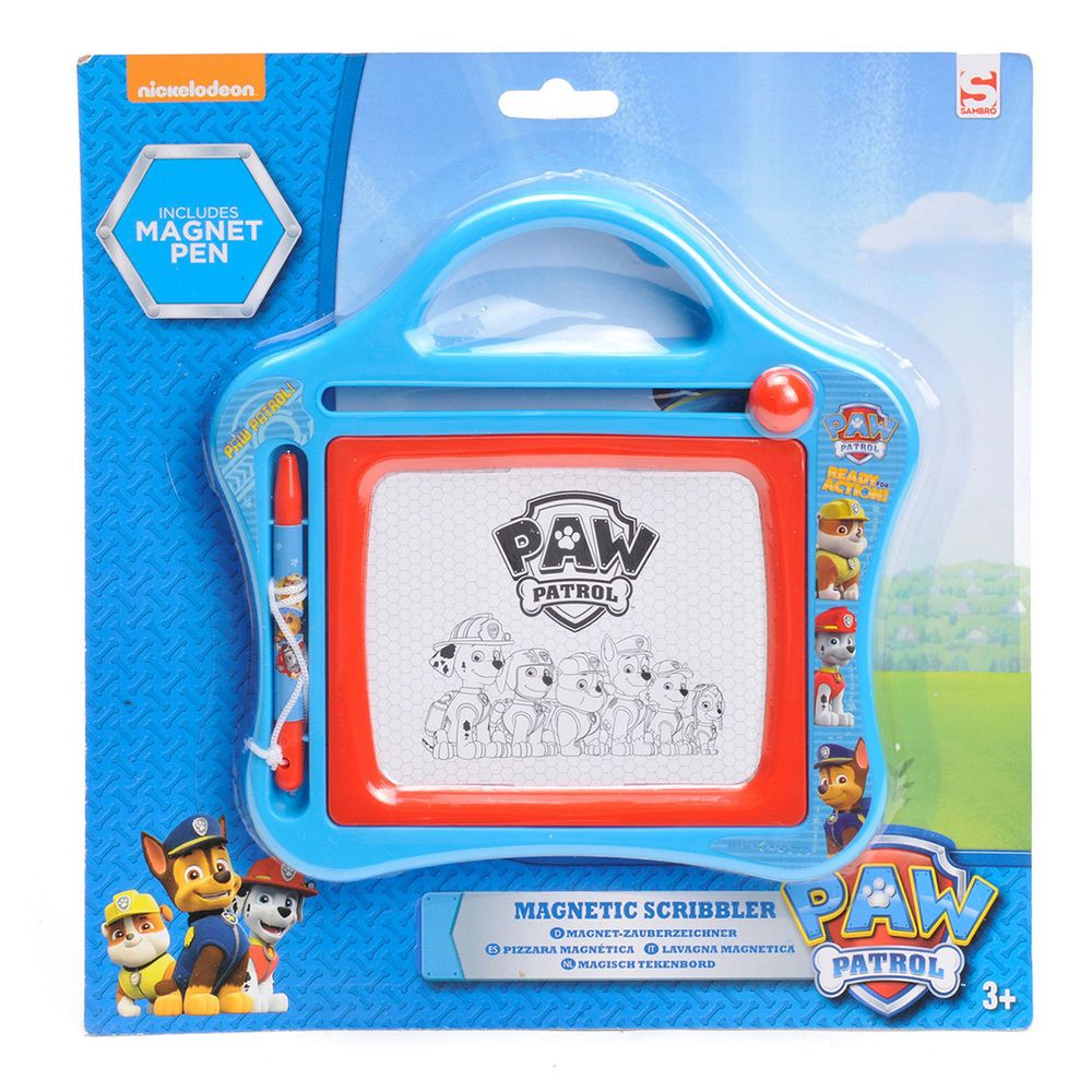Paw Patrol Magnetic Scribbler Features Marshall Chase Rubble Large 3 Yrs Blue