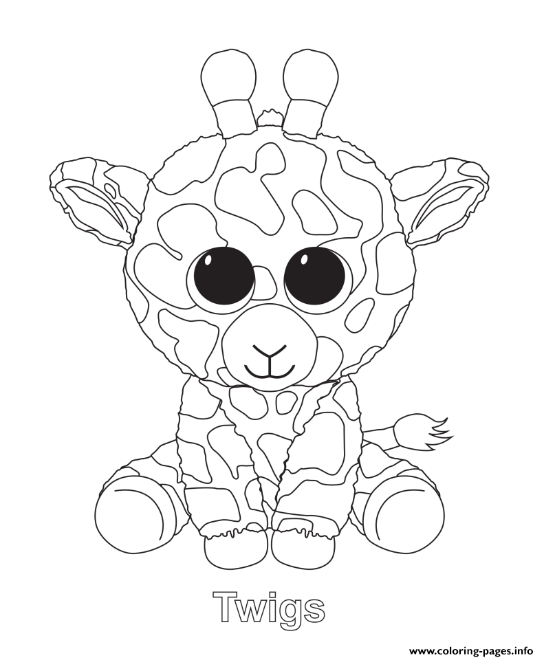 print twigs beanie boo coloring pages  beanie boo