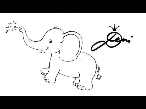 elefant schnell zeichnen lernen tiere zoo für kinder how to draw как се рисува слонче - youtube
