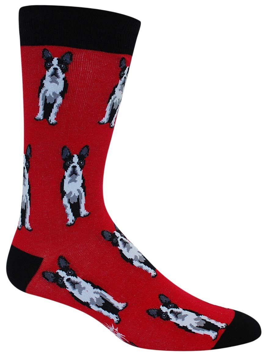 Boston Terrier Socks   Mens