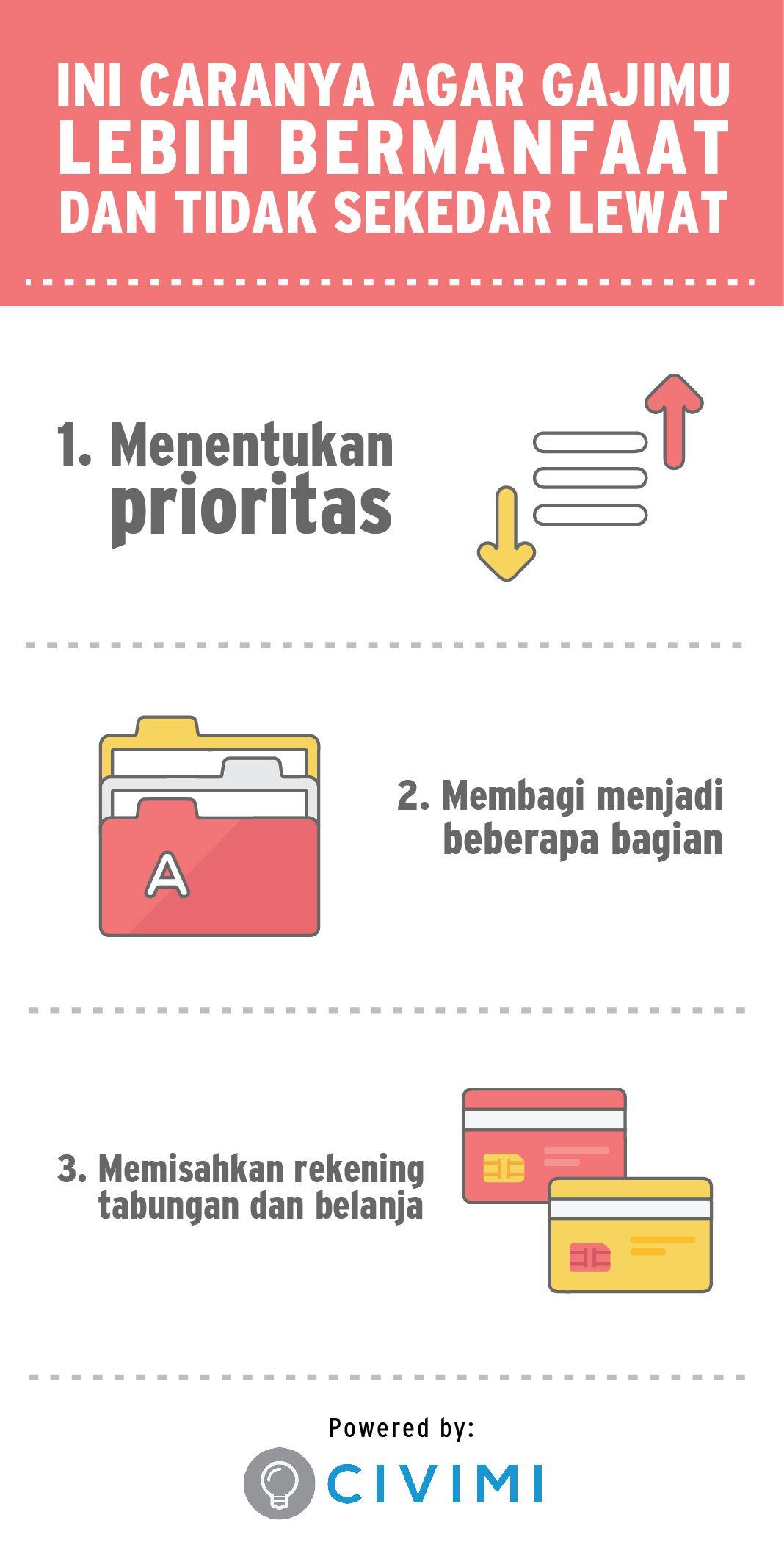 Ini Caranya Agar Gajimu Lebih Bermanfaat Dan Tidak Sekedar Lewat Infographic Kutipan Motivasi Sukses Kutipan Motivasi Kutipan Pengetahuan