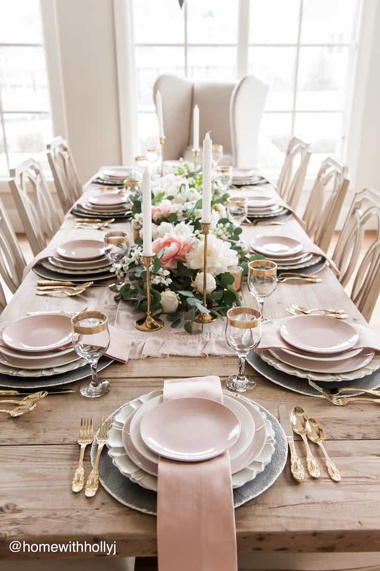 Dining Table Decor, French Country Dining Room Table Setup