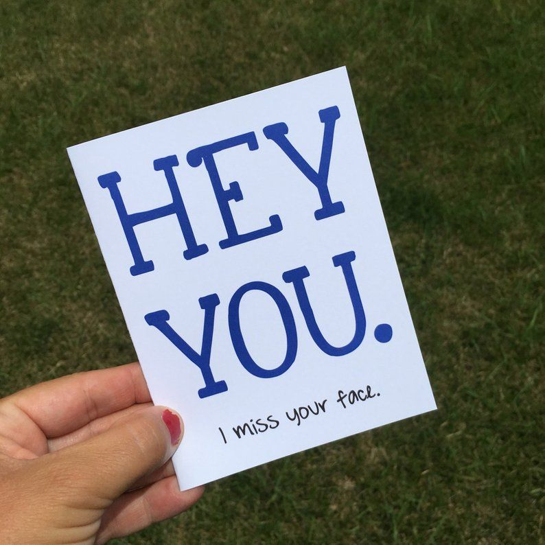 Say it with a funny greeting card! Keep it short, simple