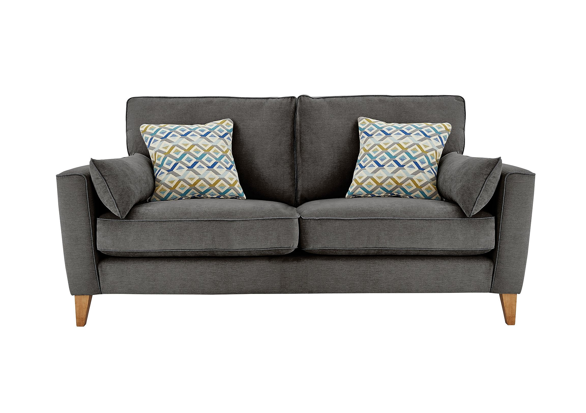 Furniture Village Hartford Sofa Clean Contemporary Scandi Style Roomy Medium Sofa Seats Three