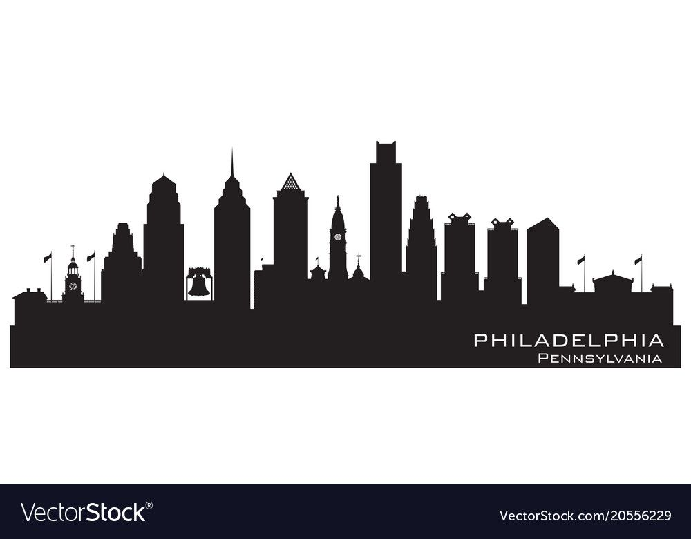 Philadelphia Pennsylvania City Skyline Silhouette Vector Image Aff City Pennsylvania Philadelphia Skyline City Skyline Silhouette Dallas Texas Skyline