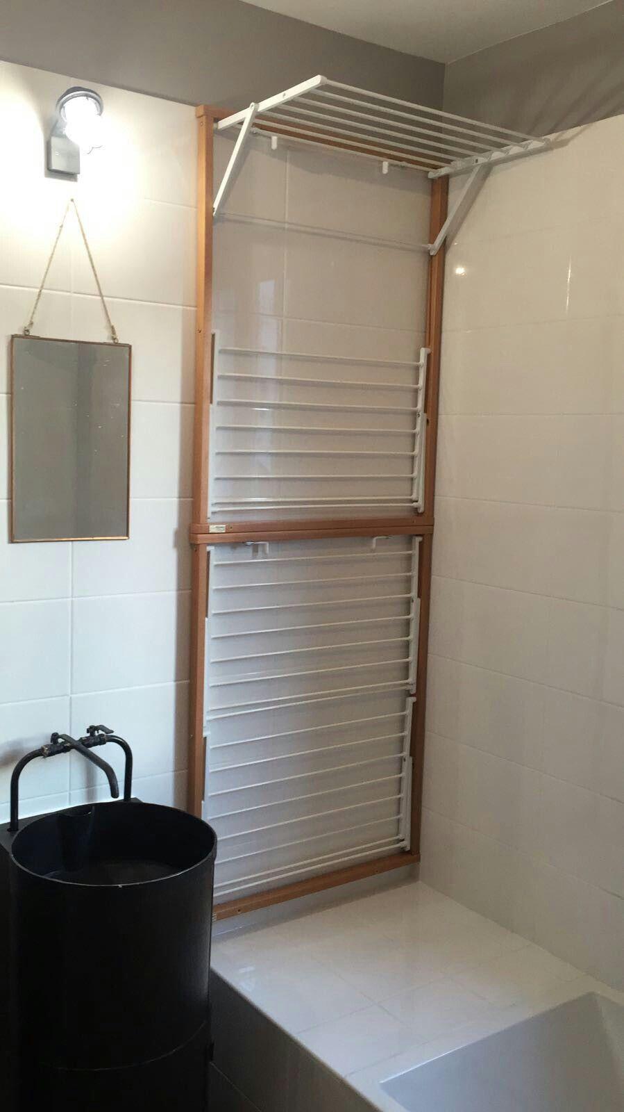 Etendoir Mural Projeto Do Banheiro Sala De Design Lavanderia