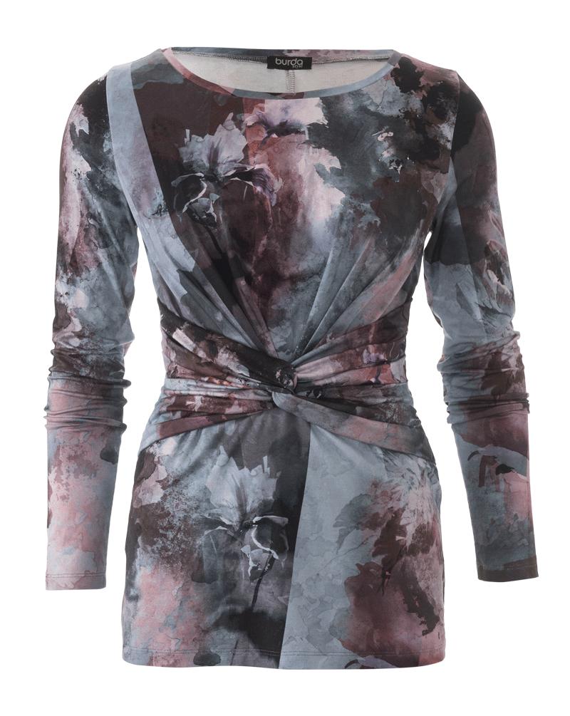 Schnittmuster Shirt mit Knoten 01/2018 #102 | Burda Style ...
