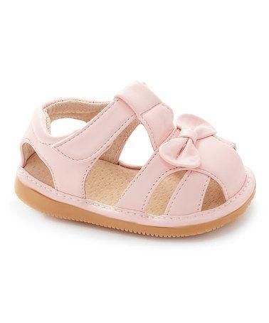 93d32436ce Light Pink Bow Squeaker Sandal  zulily  zulilyfinds