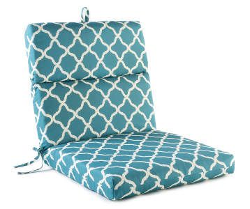 Patterned Teal Nile Outdoor Chair Cushion At Lots