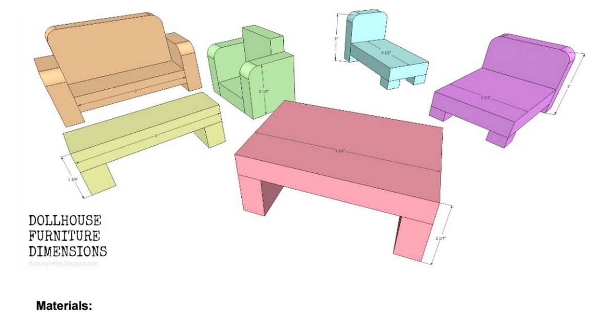Dollhouse Furniture Plans Pdf Peg Dolls And Doll Houses