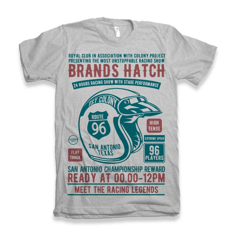 Download Brands Hatch Racing Tshirt Design Buy T Shirt Designs T Shirt Design Template Tshirt Designs Shirt Designs
