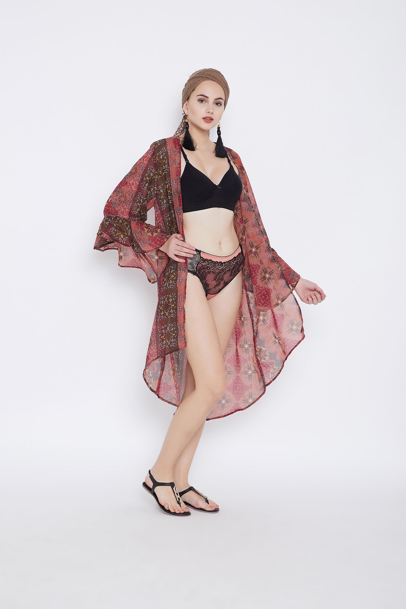 39344611e5aeb Canyon Rose Beach Cover Ups for Women Beach Swimsuit Digital Printed Bikini  Cover Up Kimono Sleeve Summer Beach Dresses for Women Plus Size Bathing Suit  ...