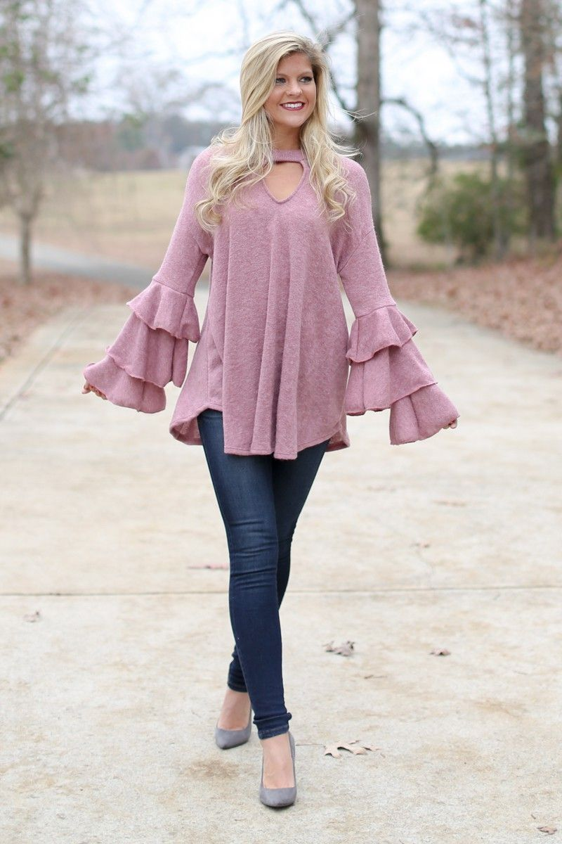 Ready To Mingle Rose Pink Tunic Sweater at reddressboutique.com ...