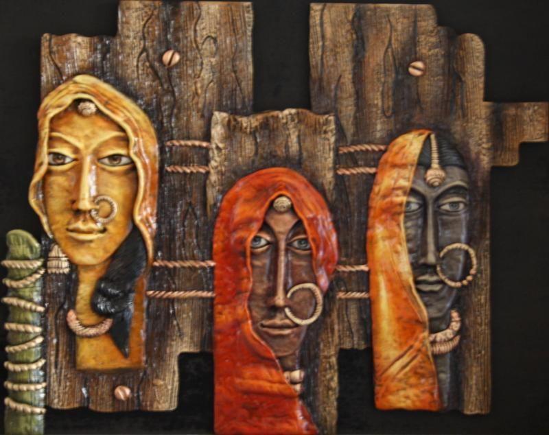 Saritas gallery indian art pinterest galleries for 3d ceramic mural art