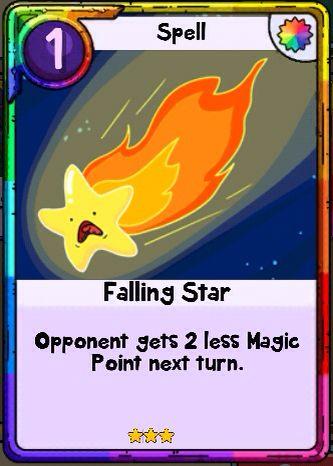 Adventure Time Card Wars  Falling Star Spell Card  Card Wars